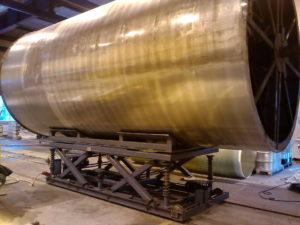 Телега подъёмно-поворотная для снятия и установки изделий на намоточный станок, а также перемещения готовых изделий в зону складирования